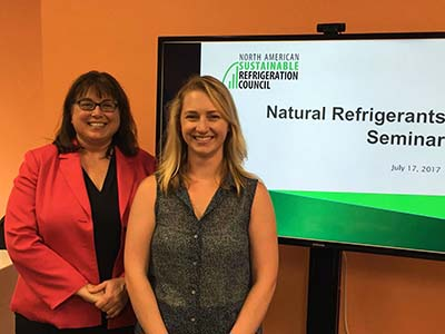 Presenters Keilly Witman, KW RMS and NASRC Board Chair and Danielle Wright, NASRC