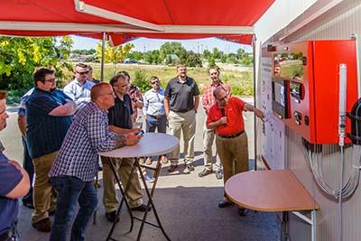 Dwain Mayer, Danfoss, showcases the CO2 Mobile Training Unit