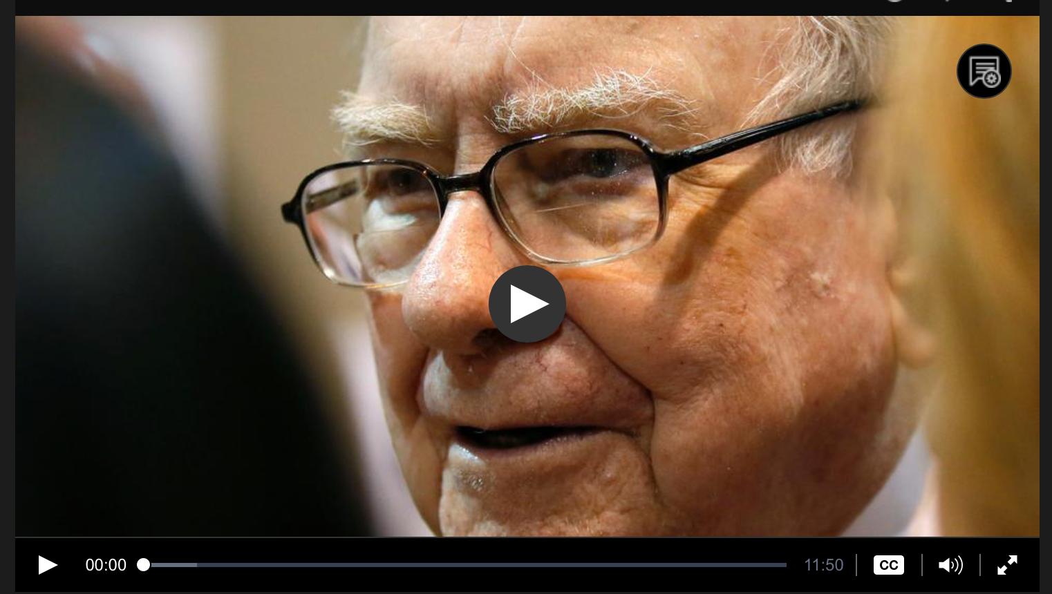 Warren Buffett interviewed by Judy Woodruff, PBS Newshour, 6/27/17
