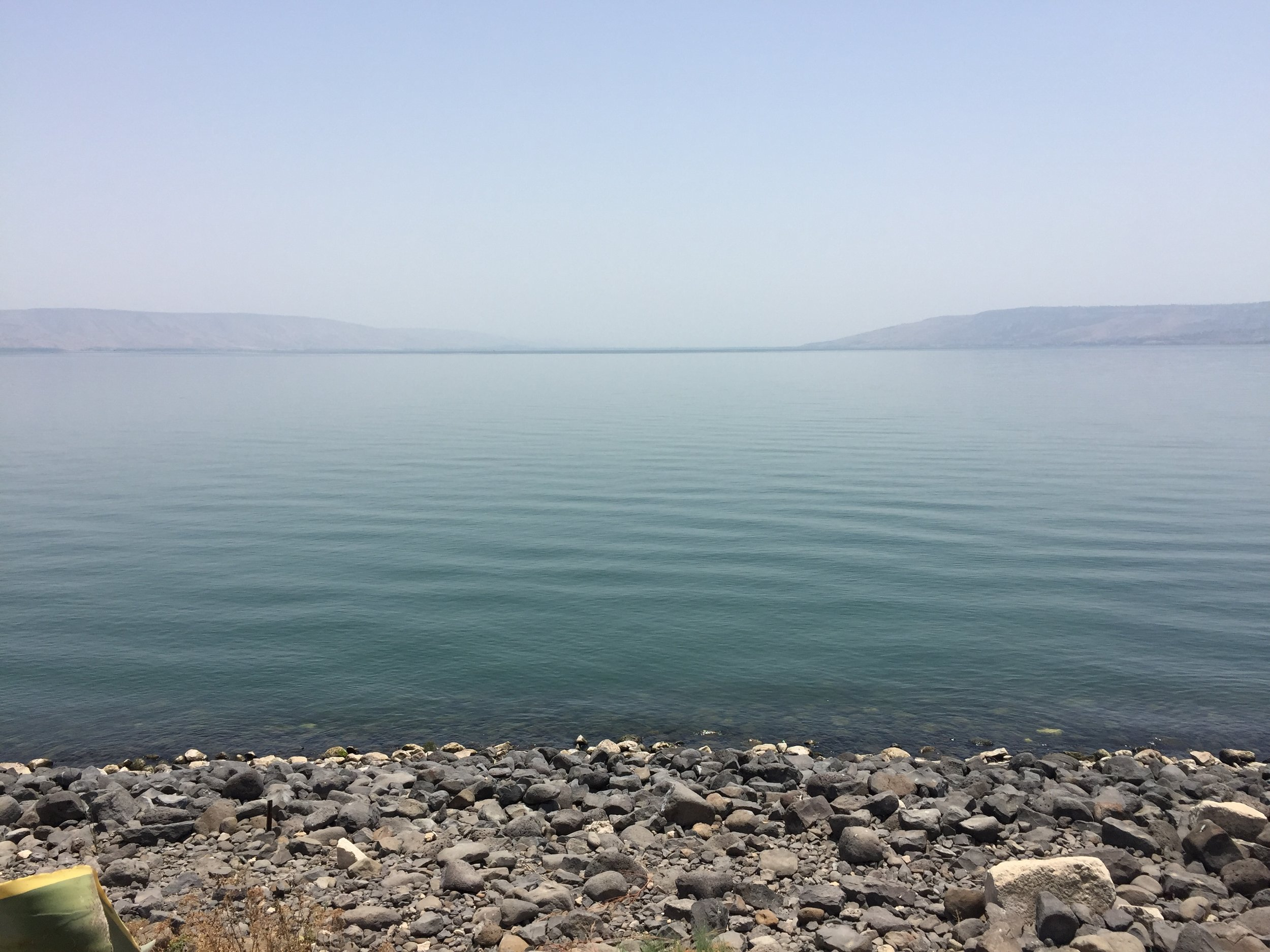 Sea of Galilee, Israel. Where Jesus preached and walked on water. So peaceful, so tranquil.