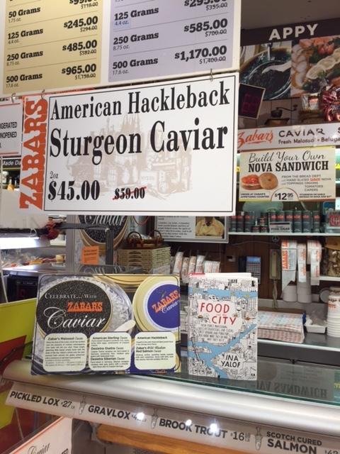 On Zabars caviar counter