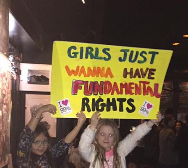 I took this photo after the women's march exactly one year ago. These girls are one year older but Ill bet they were there again yesterday. It's girls like these that are our future. So proud of them and their young sisters. . . . .#nyc #kennsbroomestreetbar #womensmarch #2018goals #nyceeeeeats  #girsjustwannahavefun #sisters #ourfuture #booktalk #pictureperfect #saysitall #foodandthecity