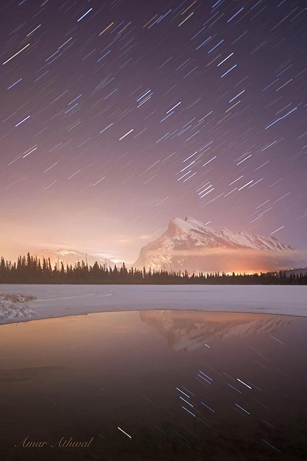 Mount Rundle Star Trails 171229f Amar Athwal.jpg