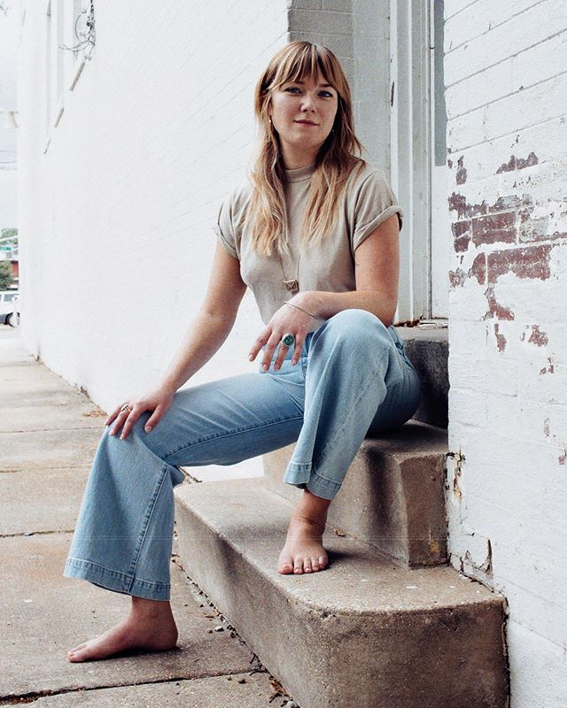 Neighbor angel @goughemmz in new @rollasjeans and a simple vintage tee (which we currently have a stack of in multiple sizes...all crazy worn/soft). Birkin vibes on Addison today with this one.