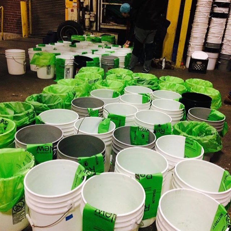 Compost Club Buckets getting prepped