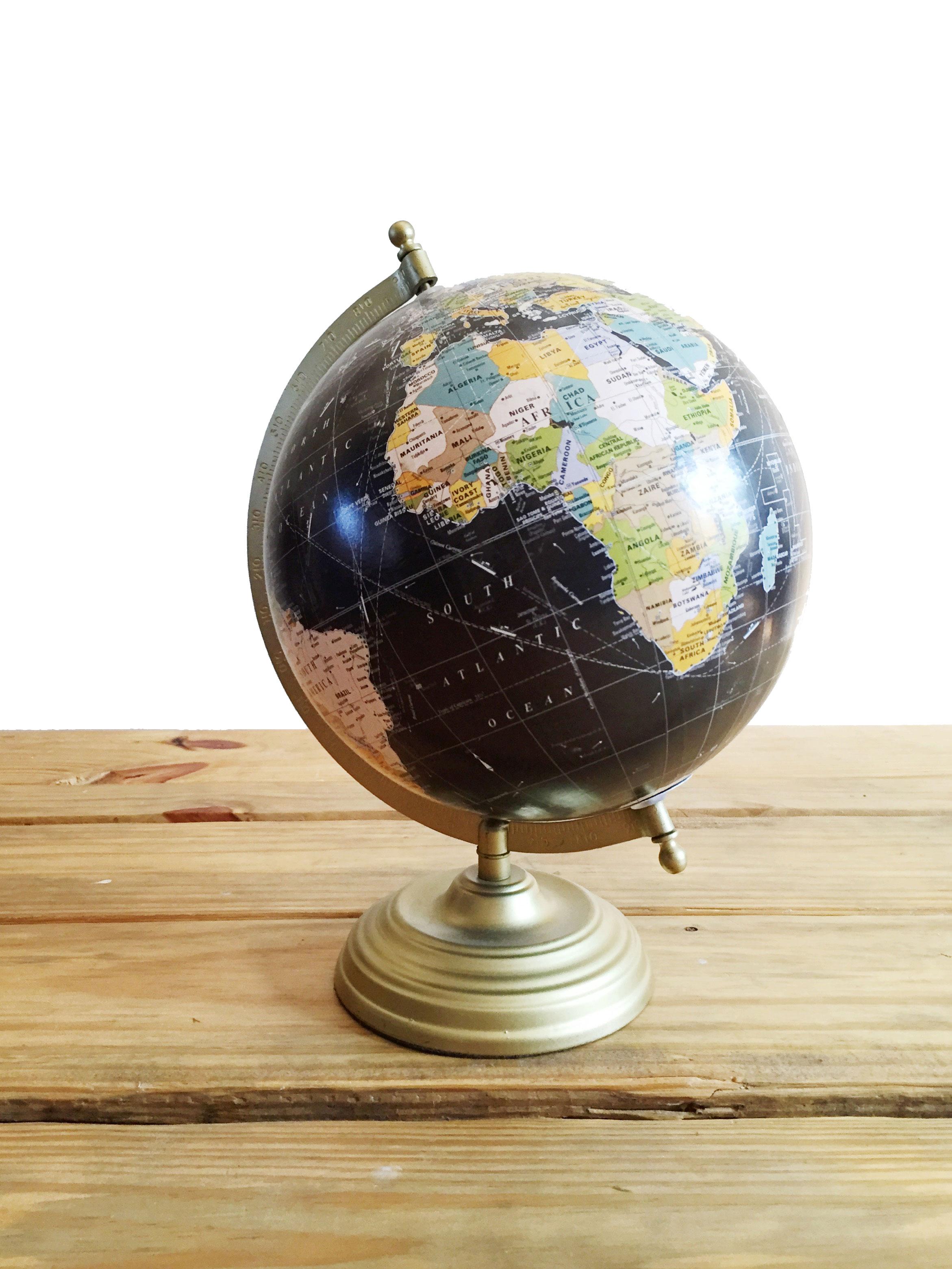 Gold Base Globe