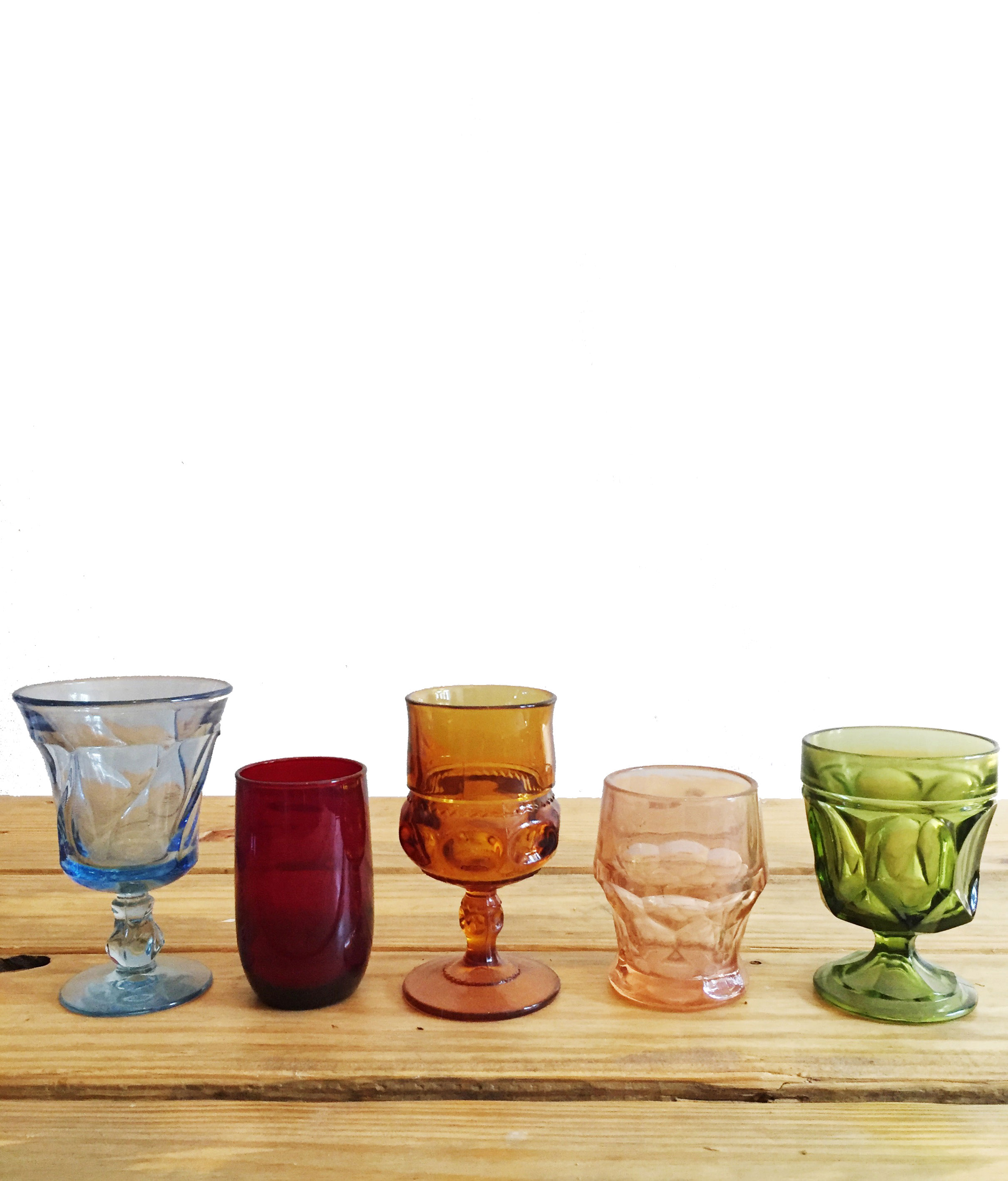 Colored Glass Votive Set