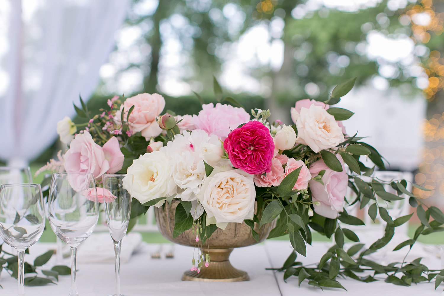Greenwich Connecticut wedding centerpiece pink white garden roses peonies.jpg