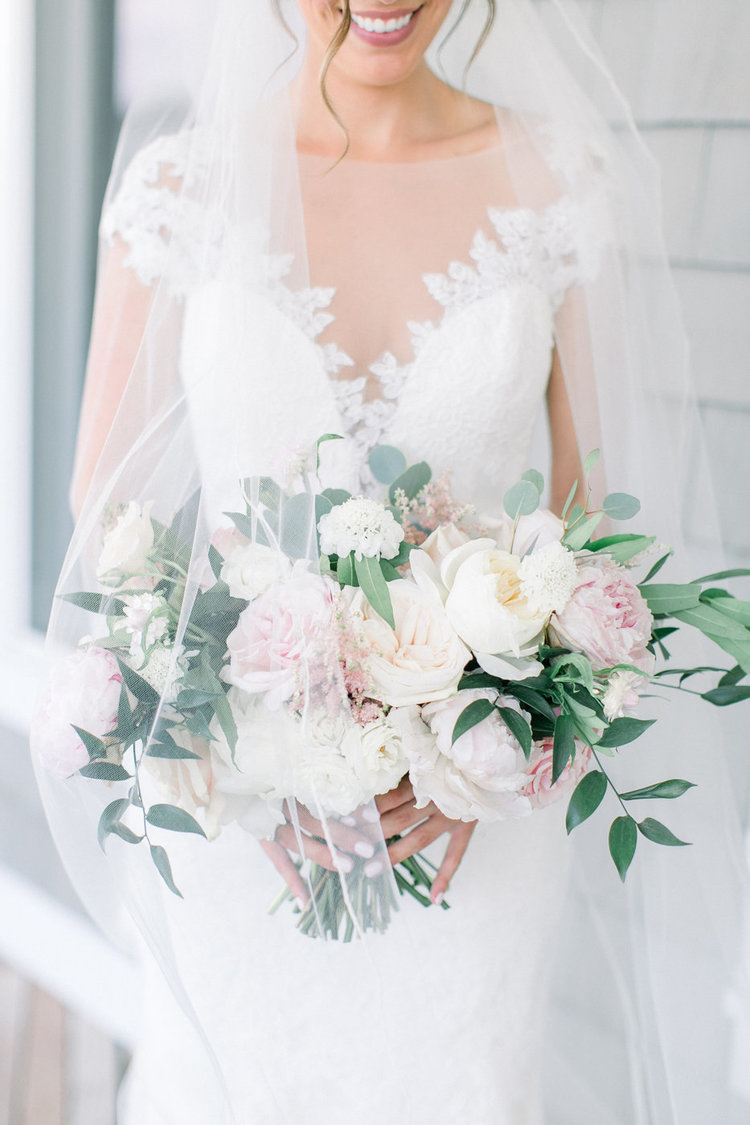 Shorehaven Golf Club wedding bridal bouquet blush white peonies garden roses.jpg