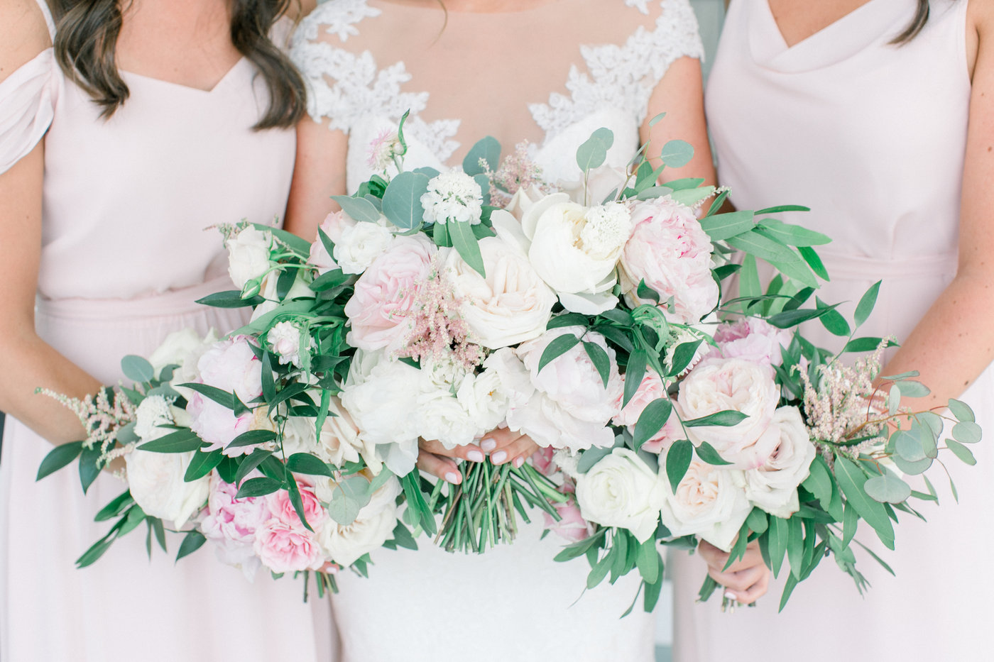 Shorehaven Golf Club wedding bridesmaids bridal bouquets blush peonies garden roses.jpg