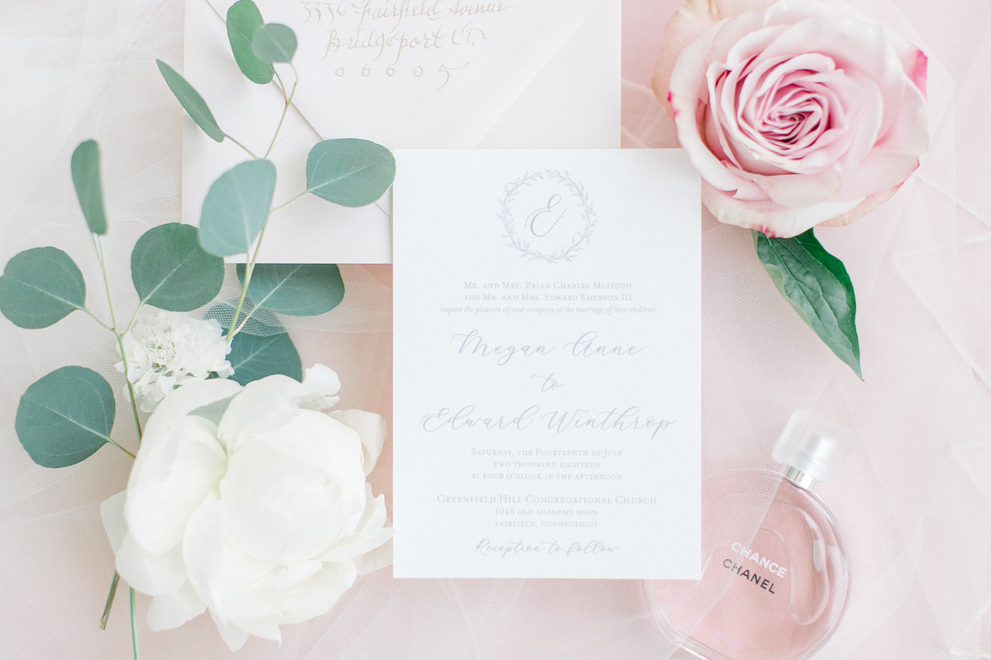 Shorehaven Golf Club wedding flat lay invitation peony rose pink white.jpg
