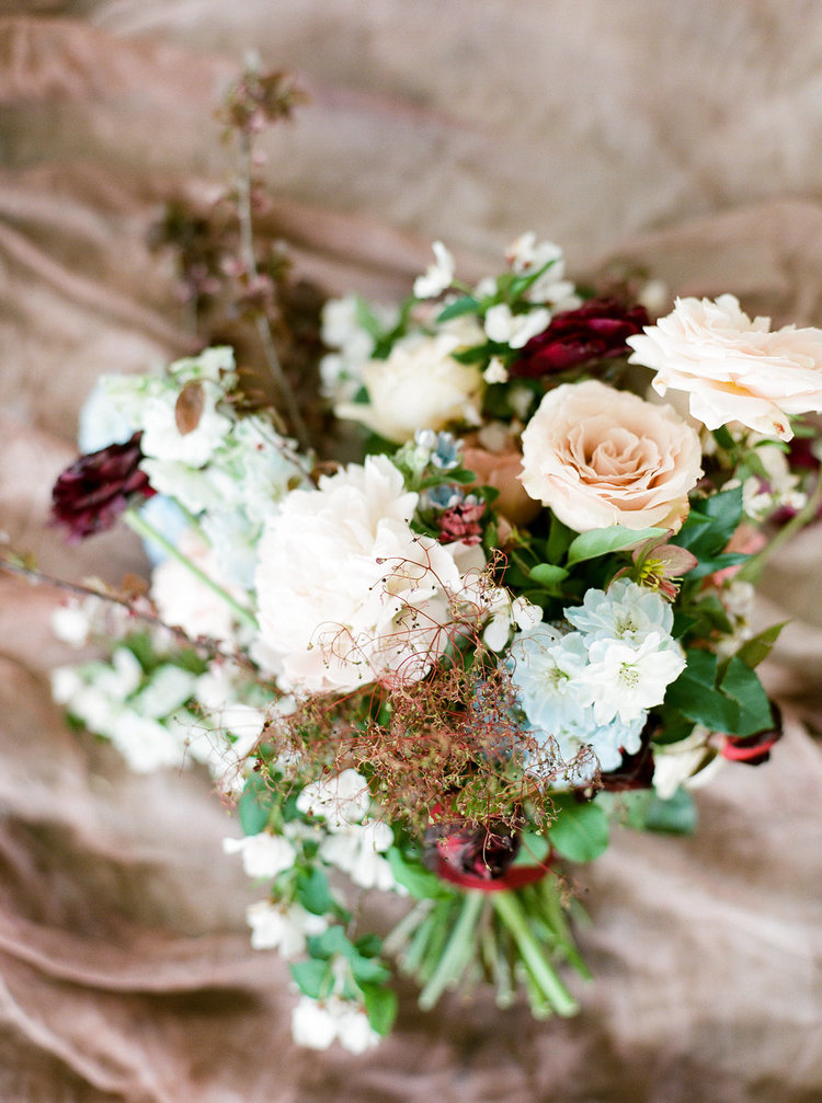 wedding bridal bouquet blue blush pink peonies roses delphinium.jpg