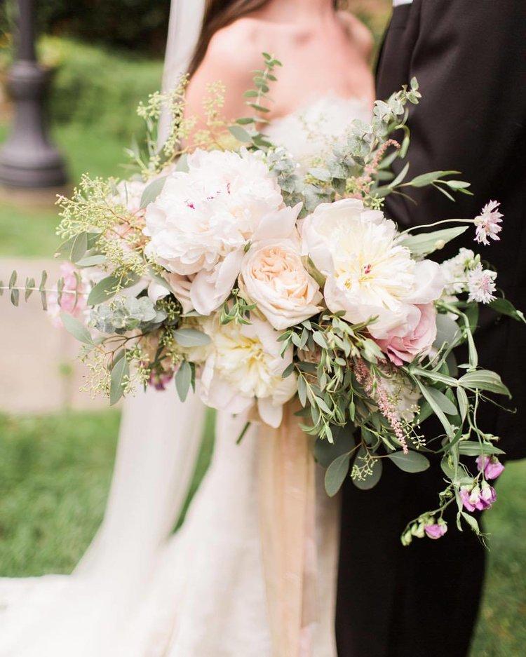 Bridal bouquet peonies garden roses eucalyptus white blush.jpg