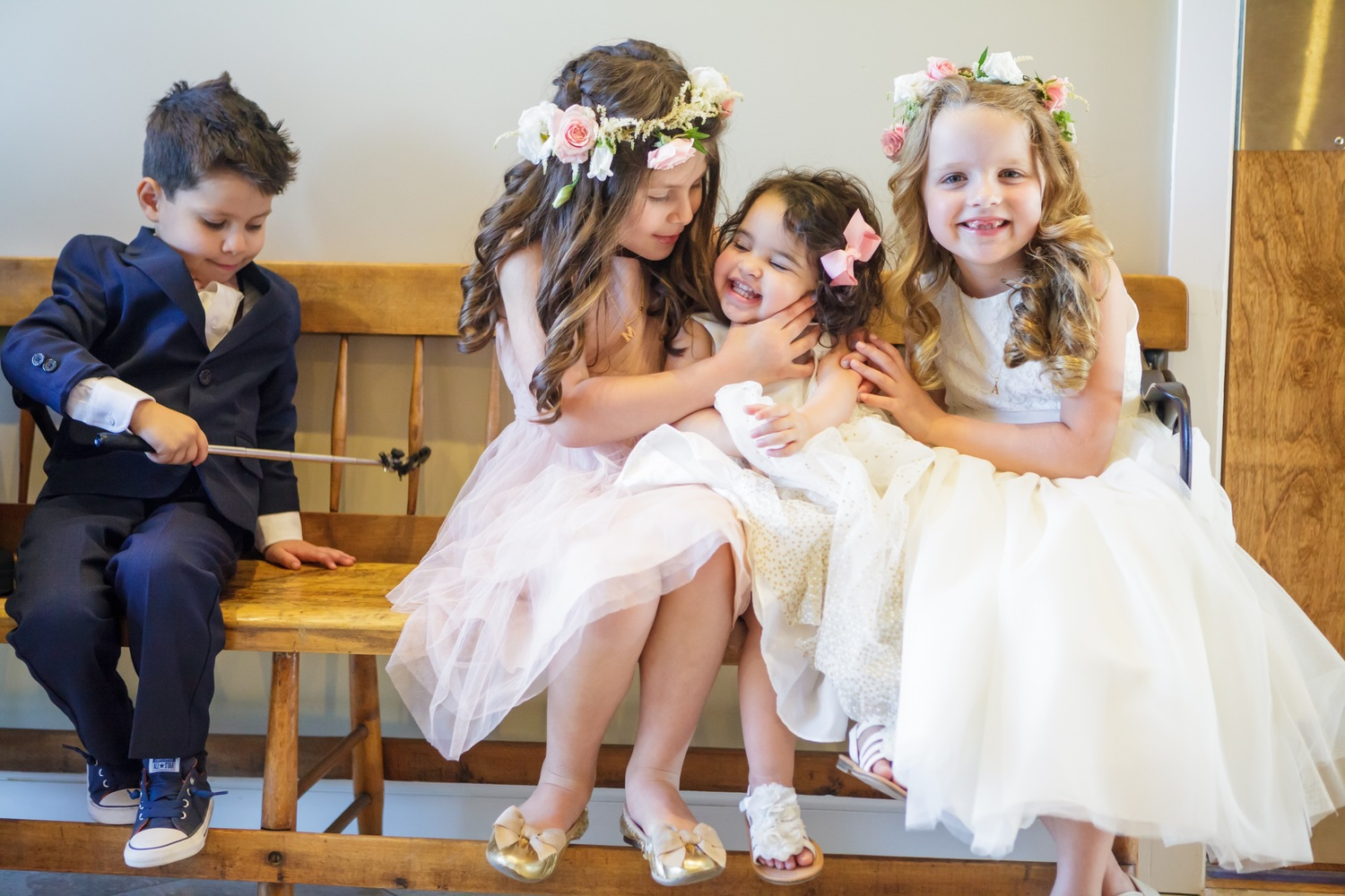 Preston Ridge Vineyard wedding flower girls flower crowns pink roses blush white.jpg