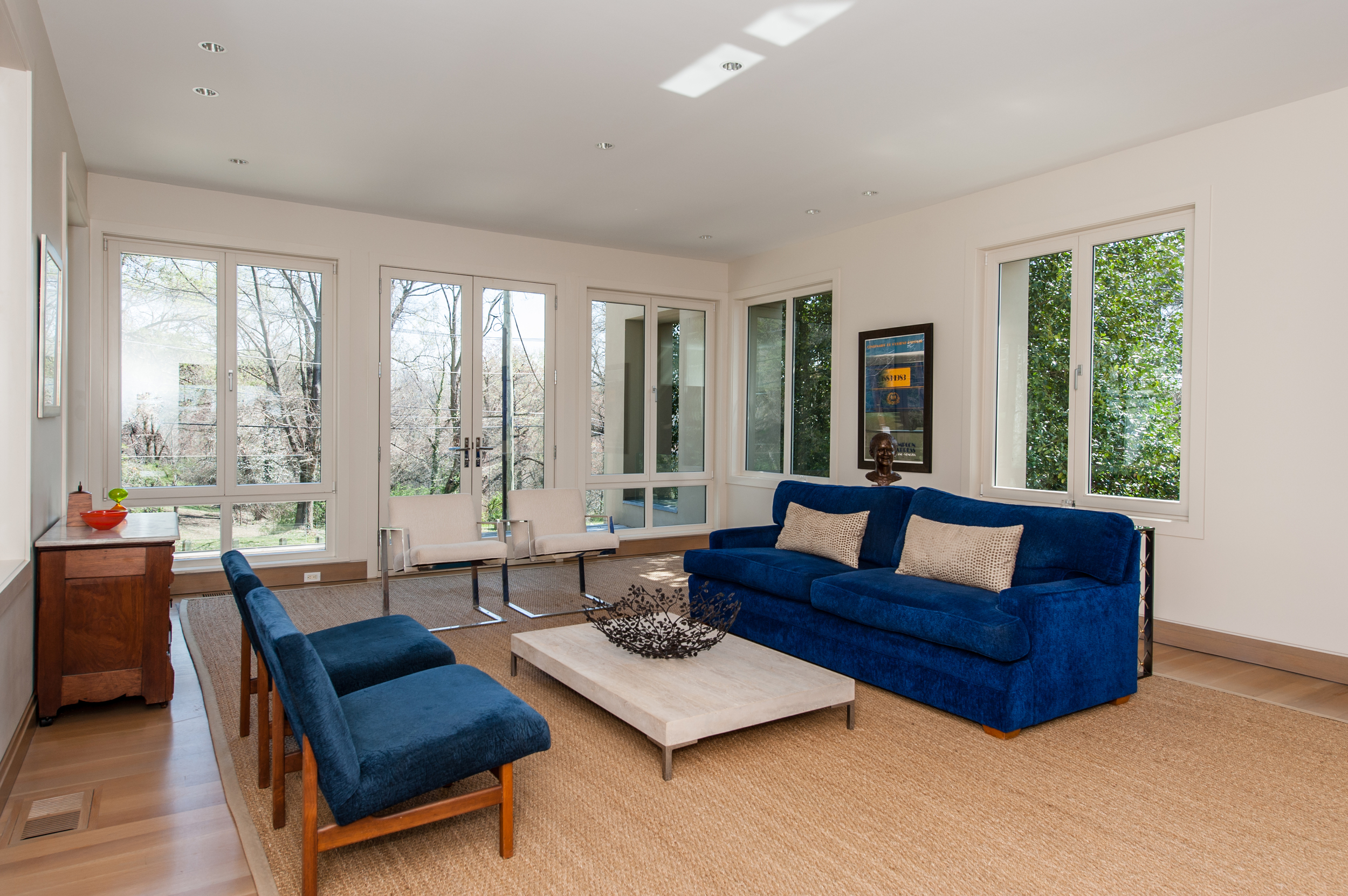 Living Room Opens to Terrace Overlooking Battery Kemble Park