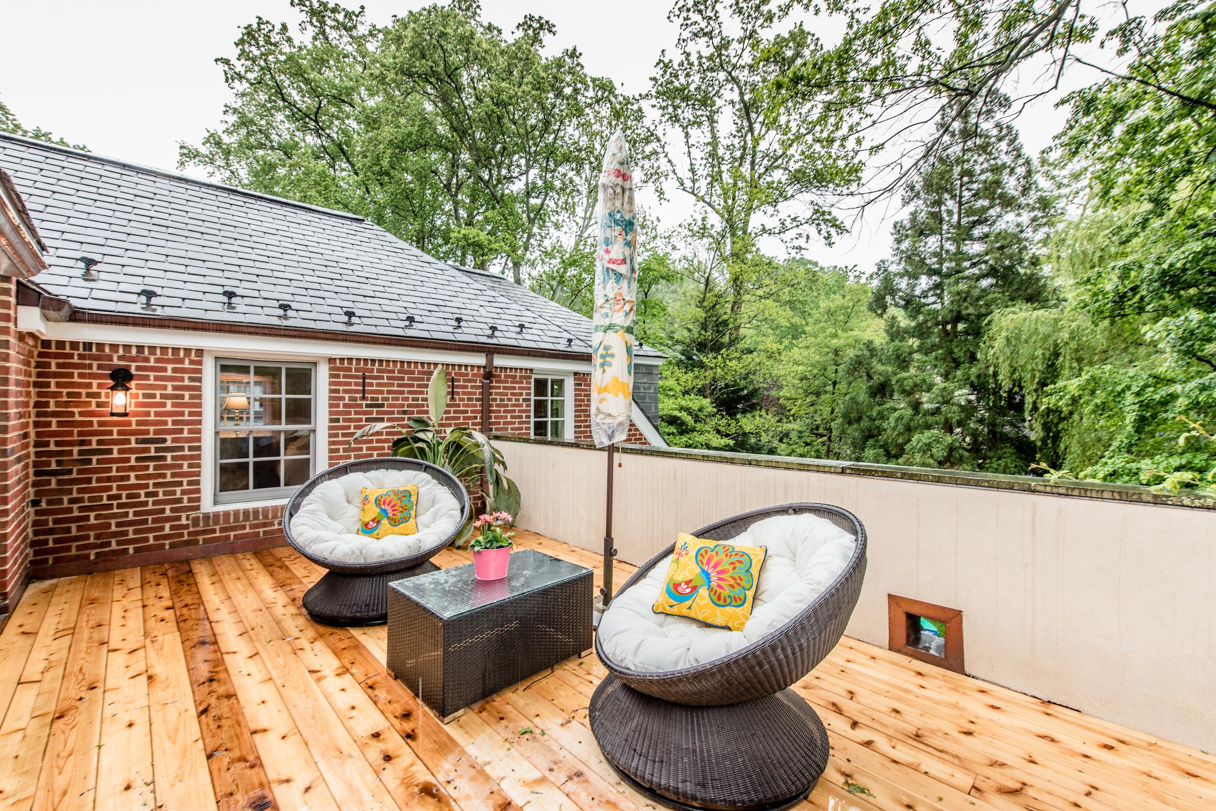 Terrace with New Cedar Flooring