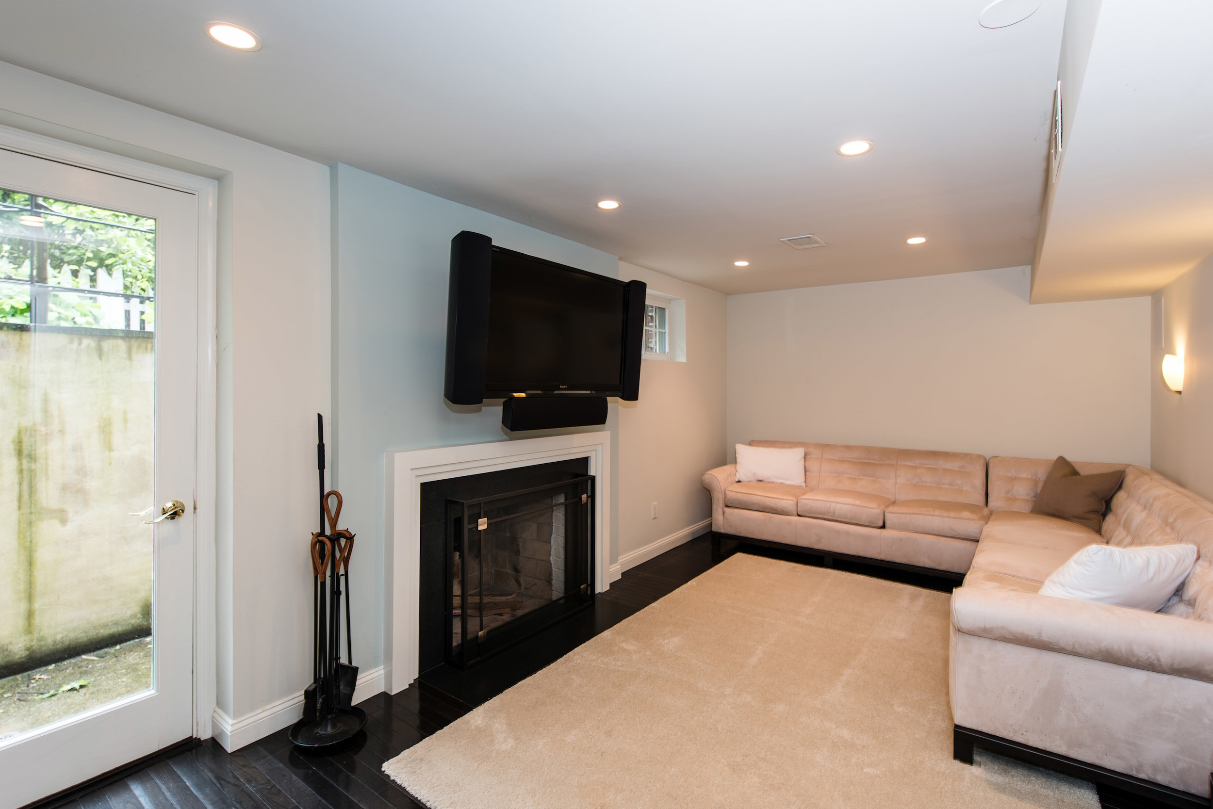Media Room with Outside Access (or Fifth Bedroom)