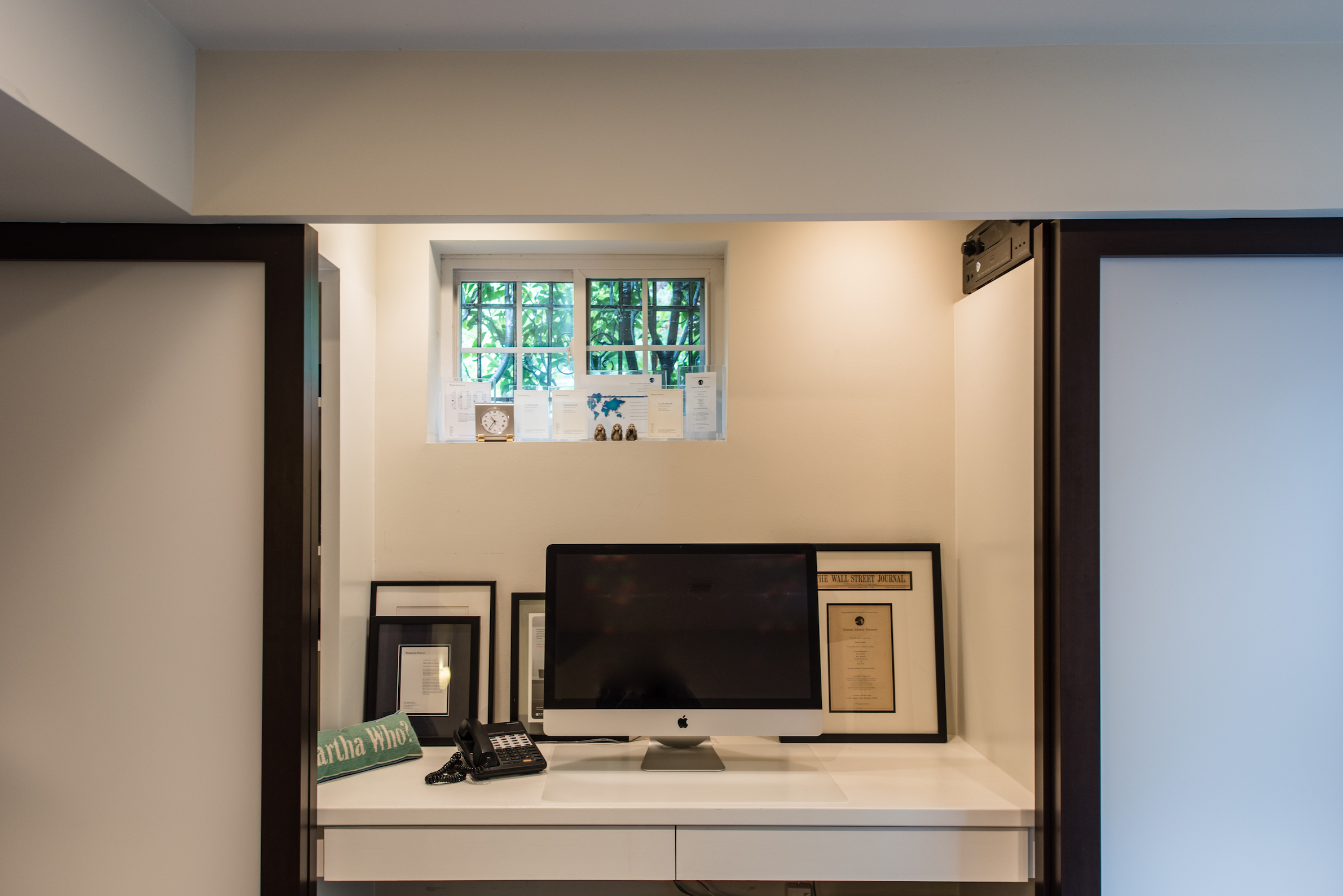Media Room Built-in Desk