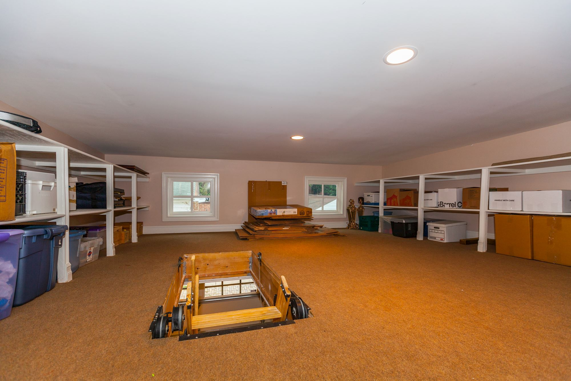 Floored and Climatized Garage Attic