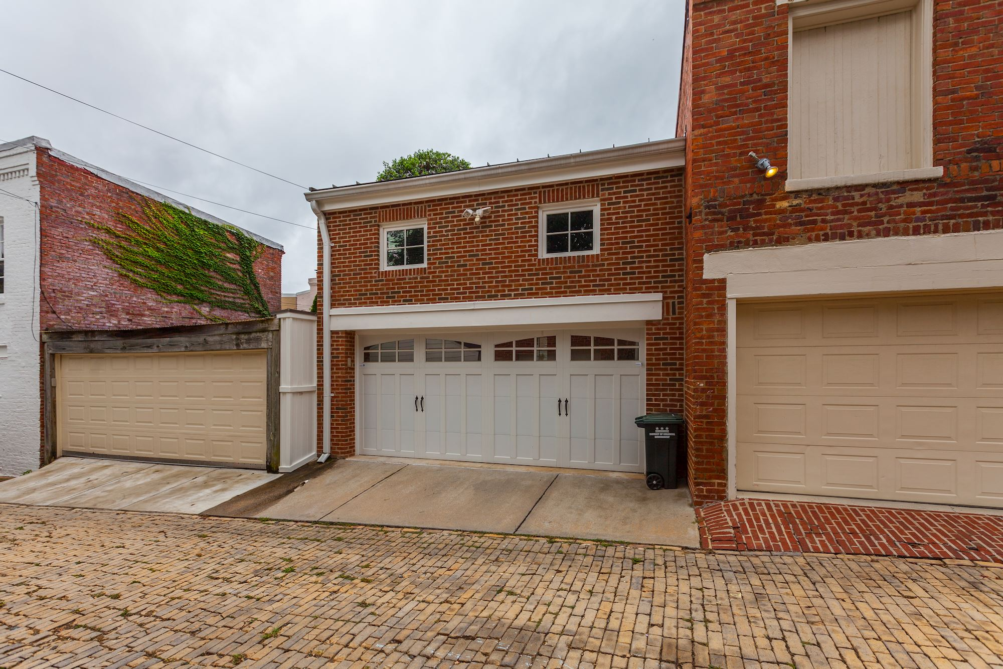 Two Car Garage with Security System