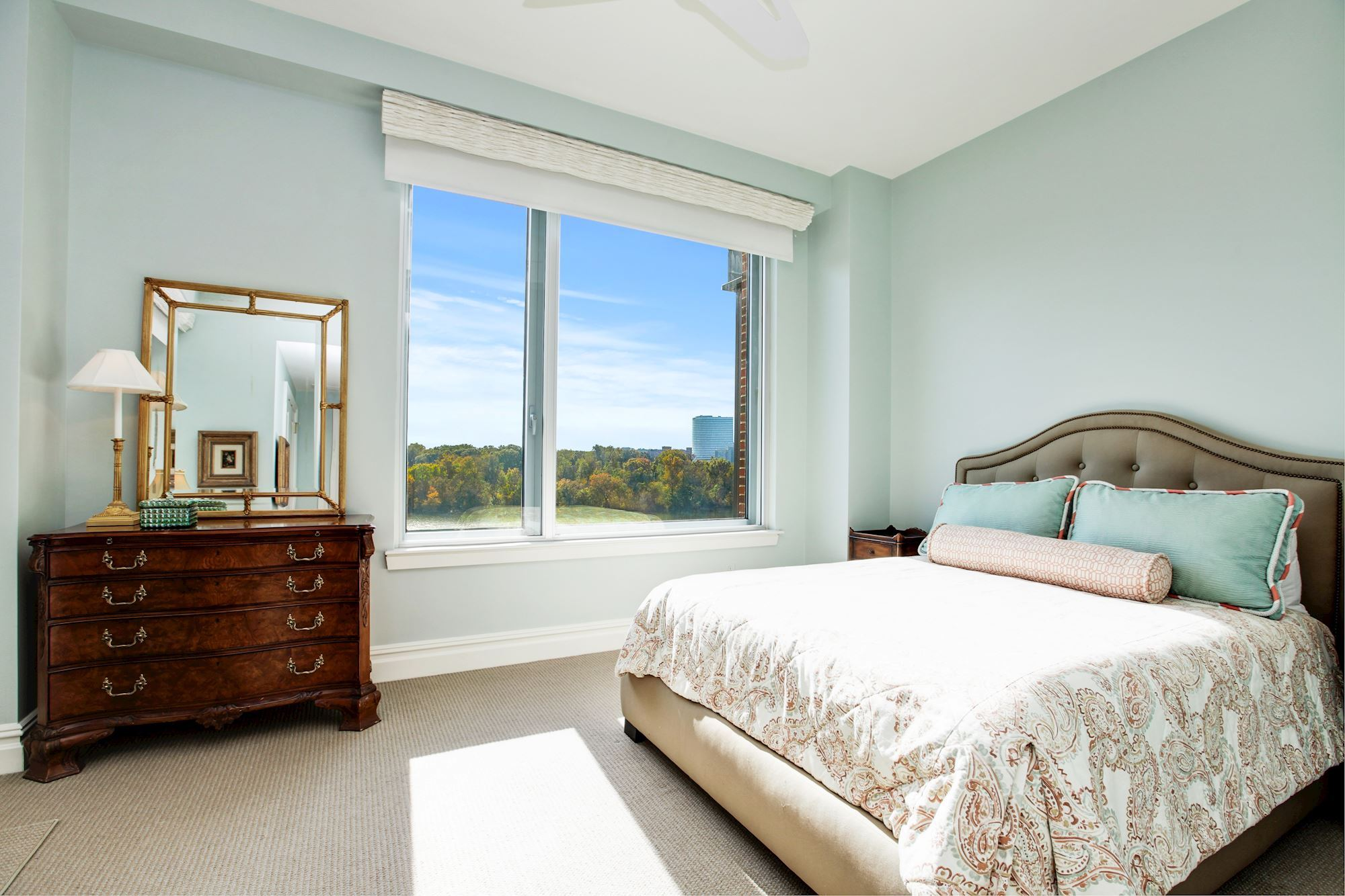 Bedroom Two offer Potomac River Views & Terrace Access