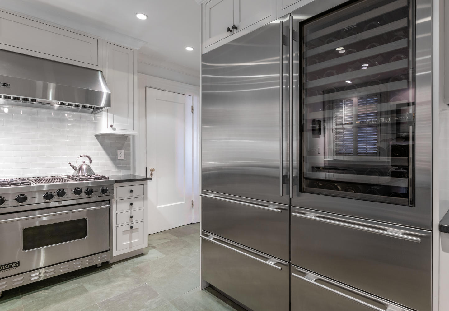 Gas Range and Custom Cabinetry