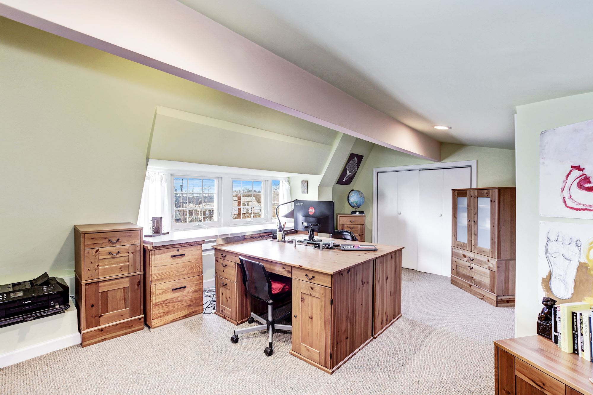 Upper Level 2 Office with Desks to Convey