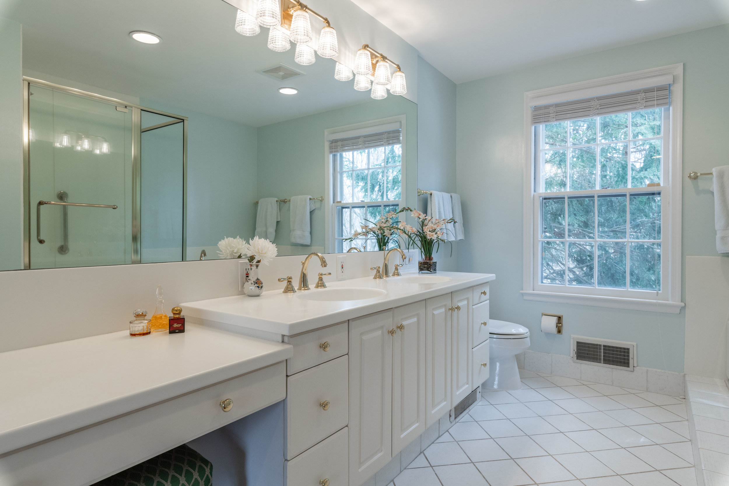 Master Bathroom with Two Vanities