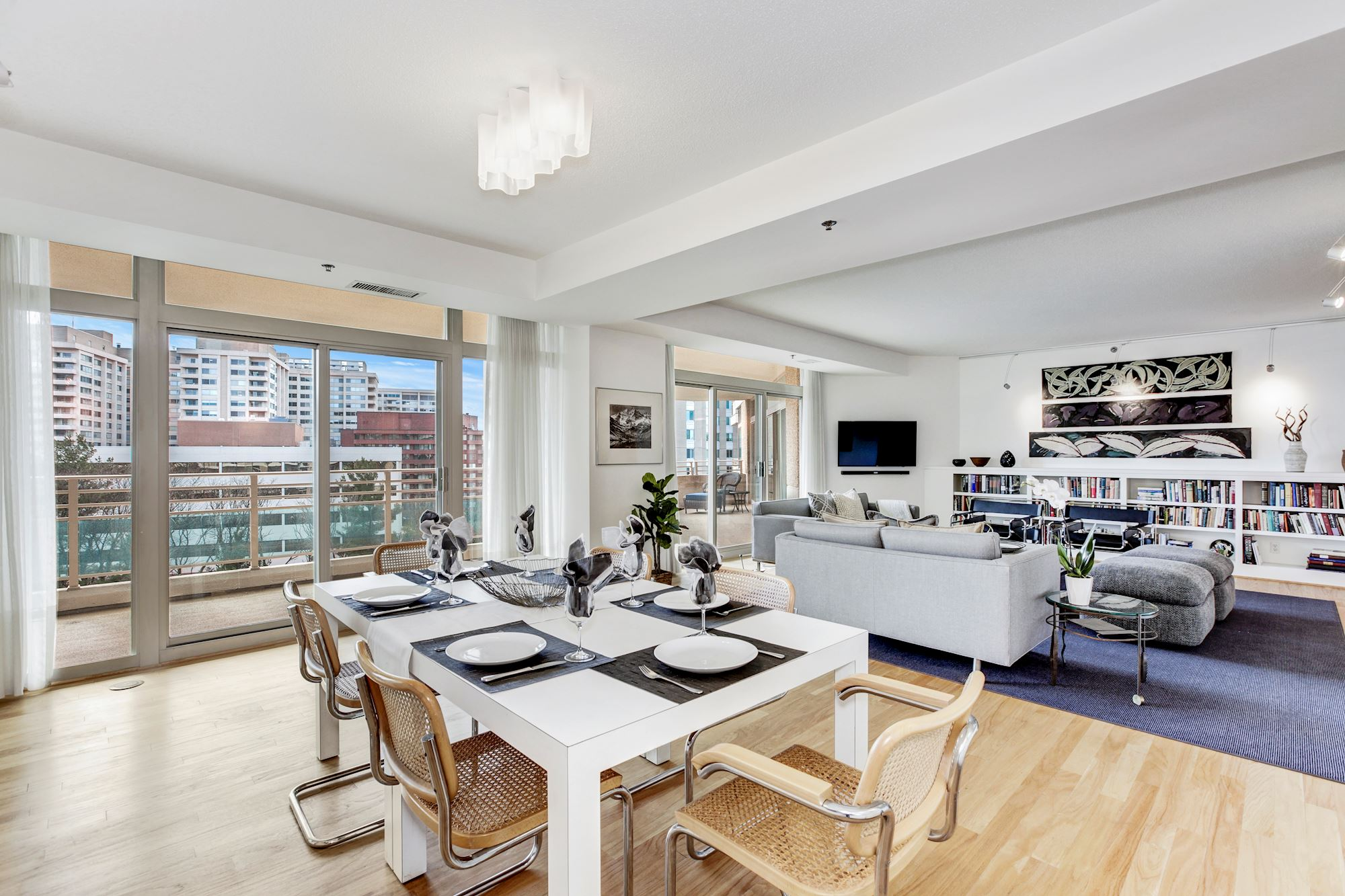 Light-Filled Dining Area opens to the Terrace