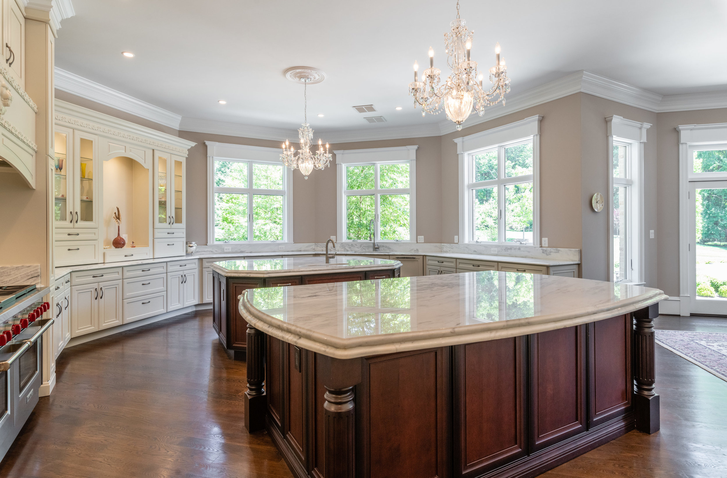 Kitchen features top-of-the-line appliances and generous storage