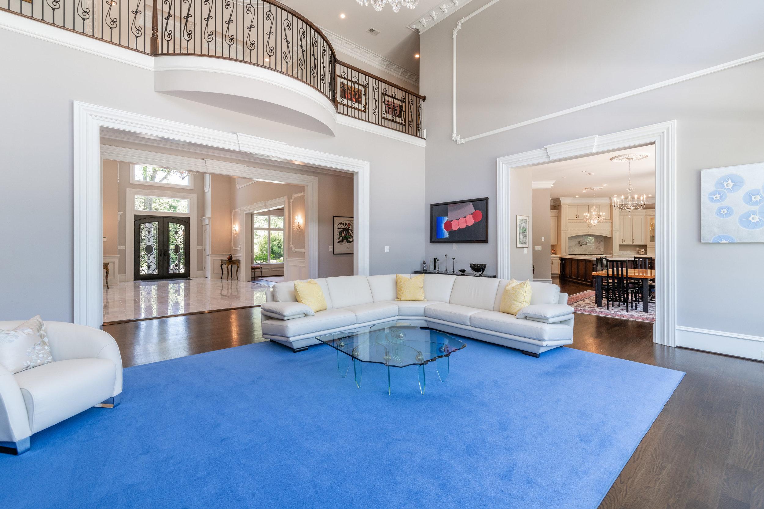 Light-filled Family Room opens to Upper Level