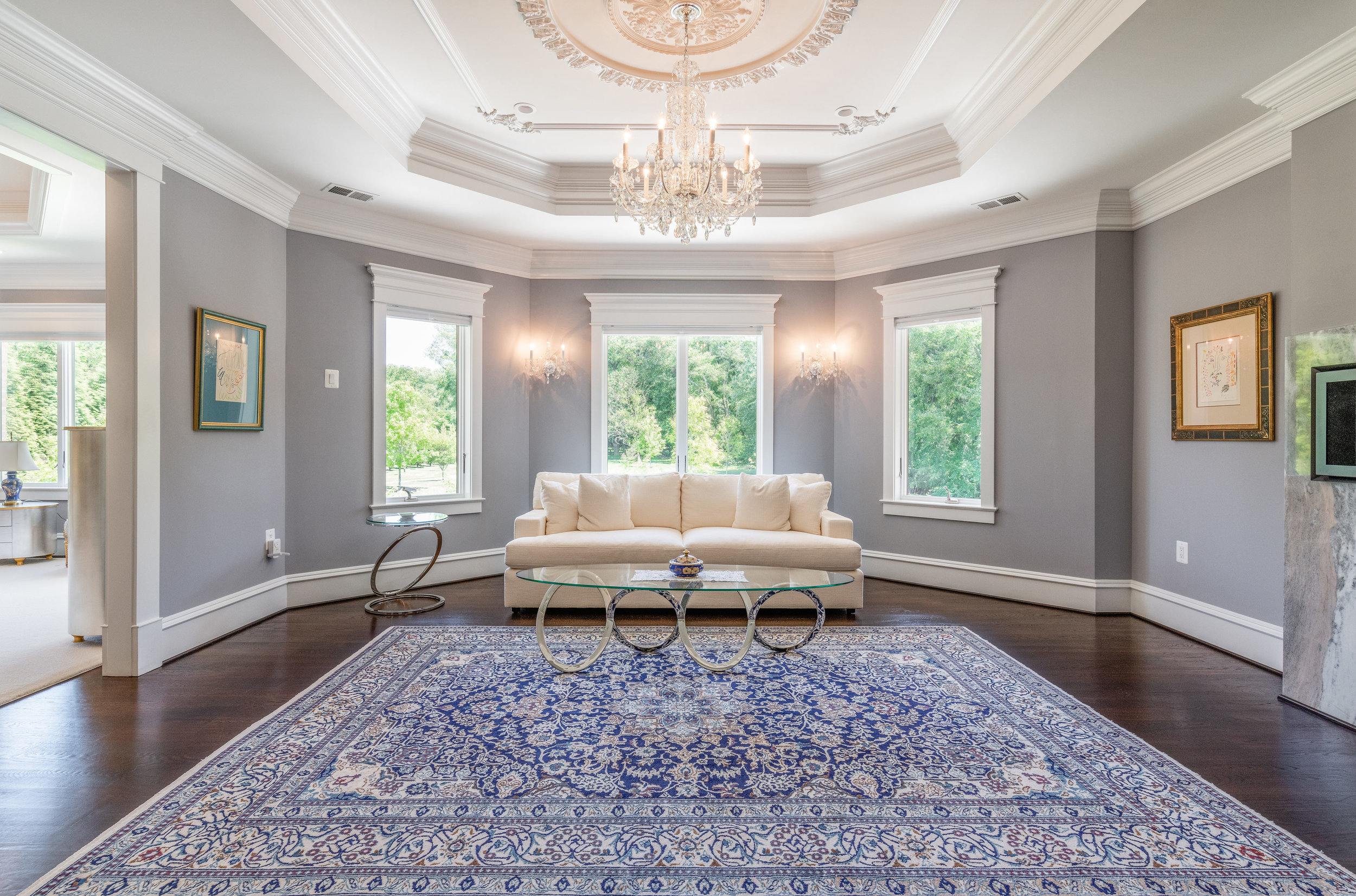 Private Master Sitting Room with Gas Fireplace