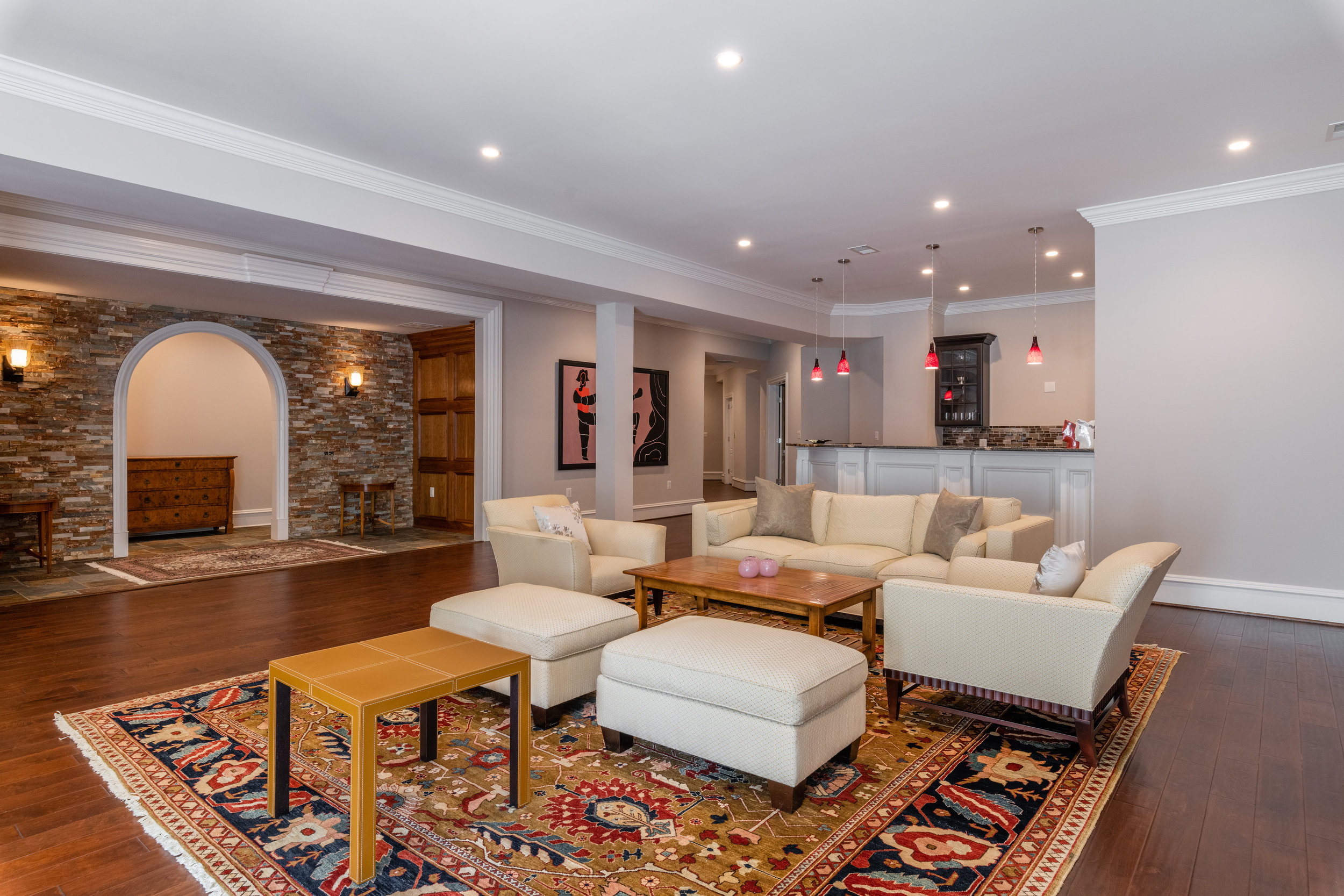 Expansive Recreation Room