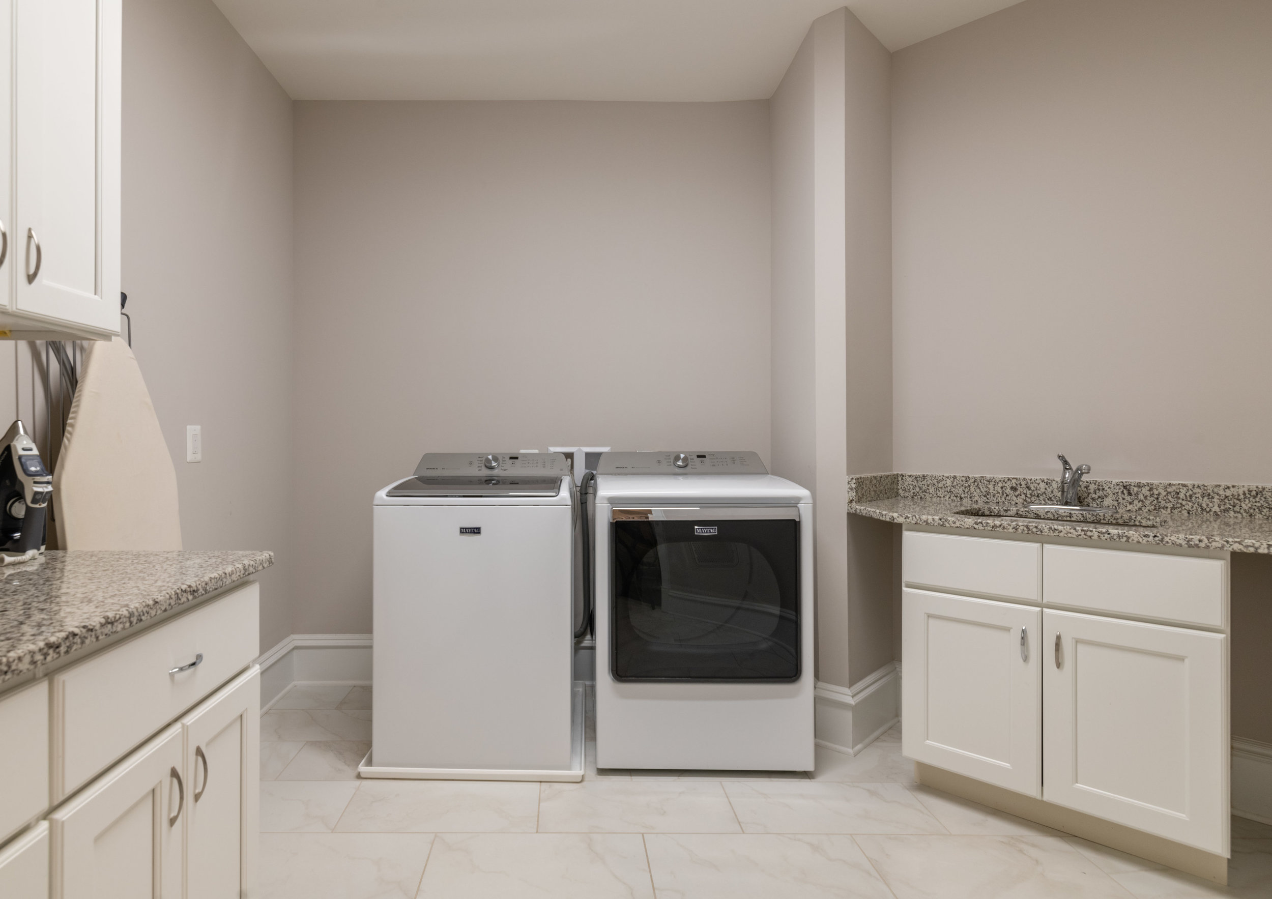 Laundry with Maytag Washer and Dryer