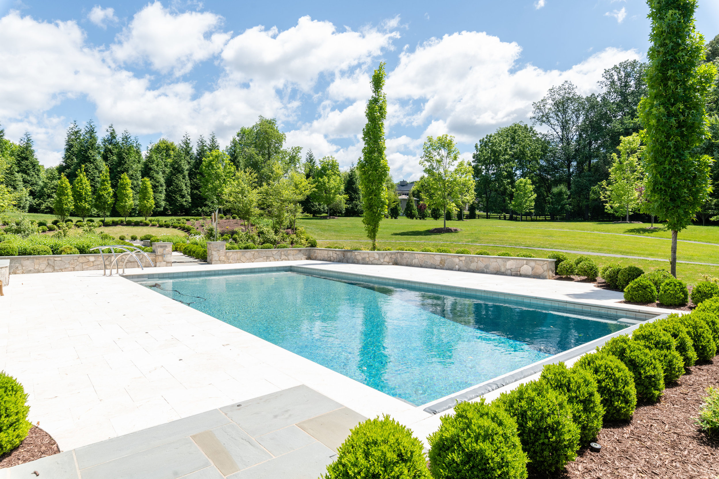 Heated Swimming Pool with Deck Jets