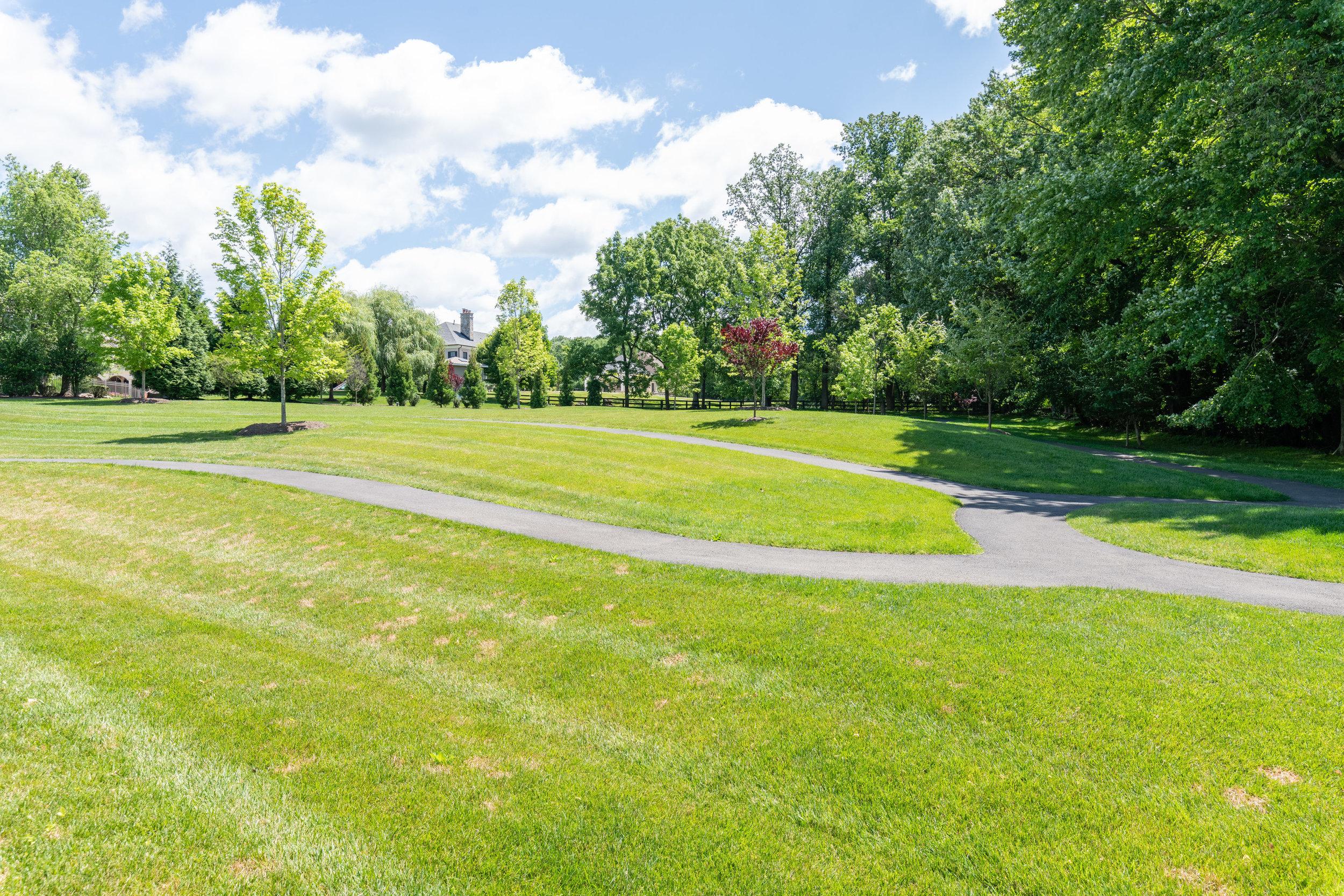 Rear Yard features walking trail