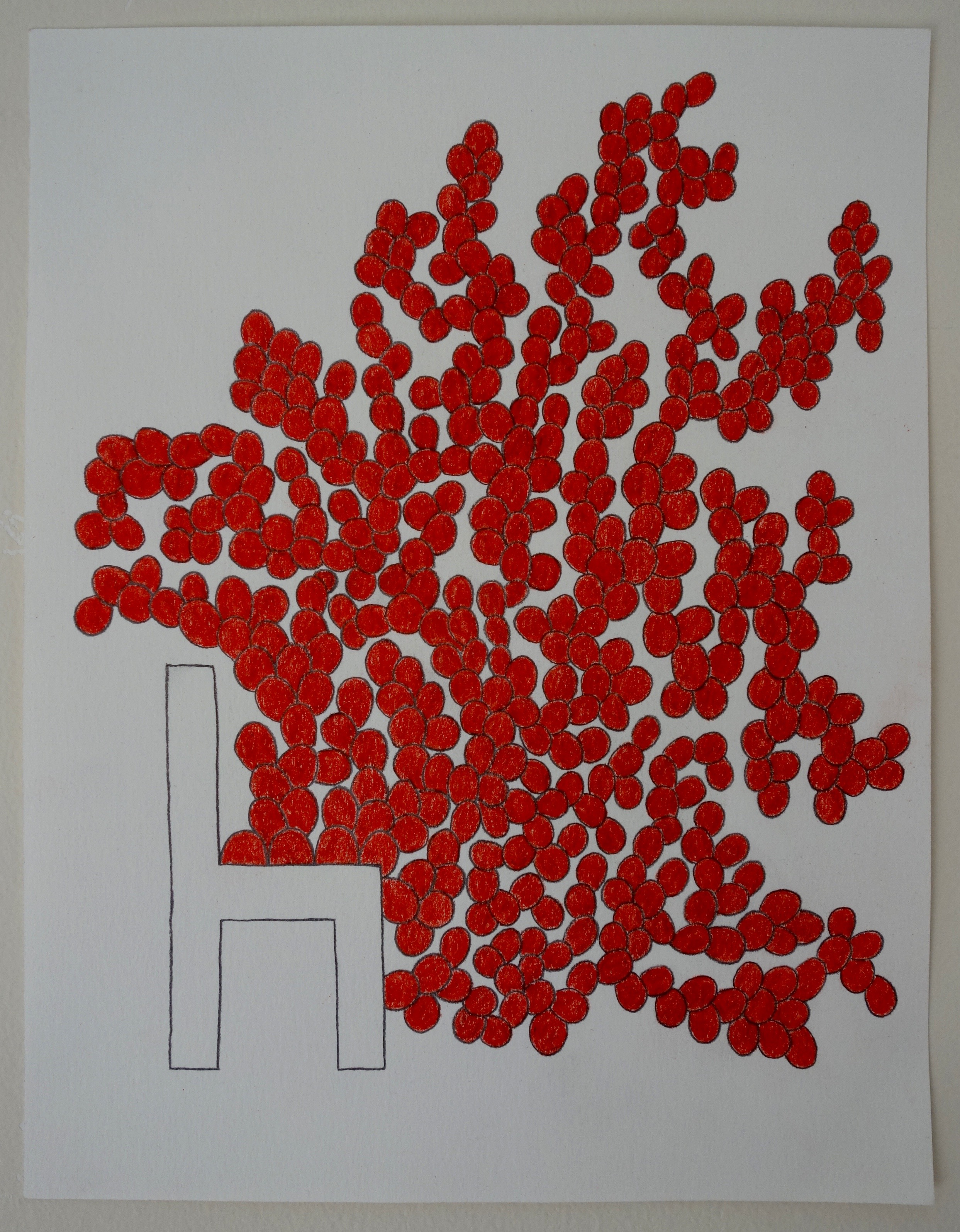 CHAIR/RED SPROUTING