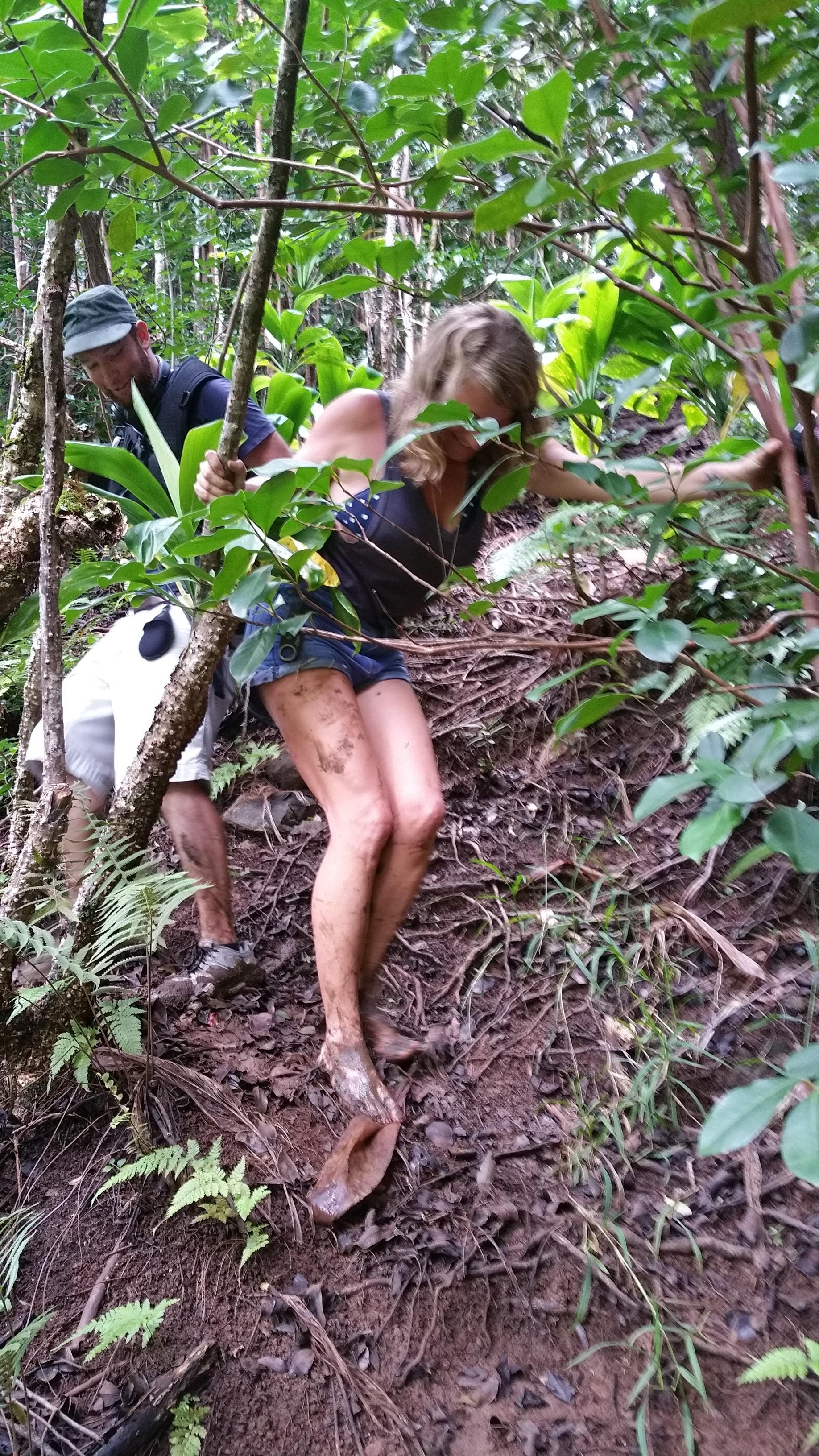 Kainoa captured my muddy feet