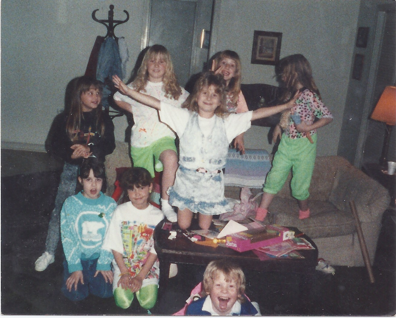 An early birthday party with my friends. And a cameo by little brother.