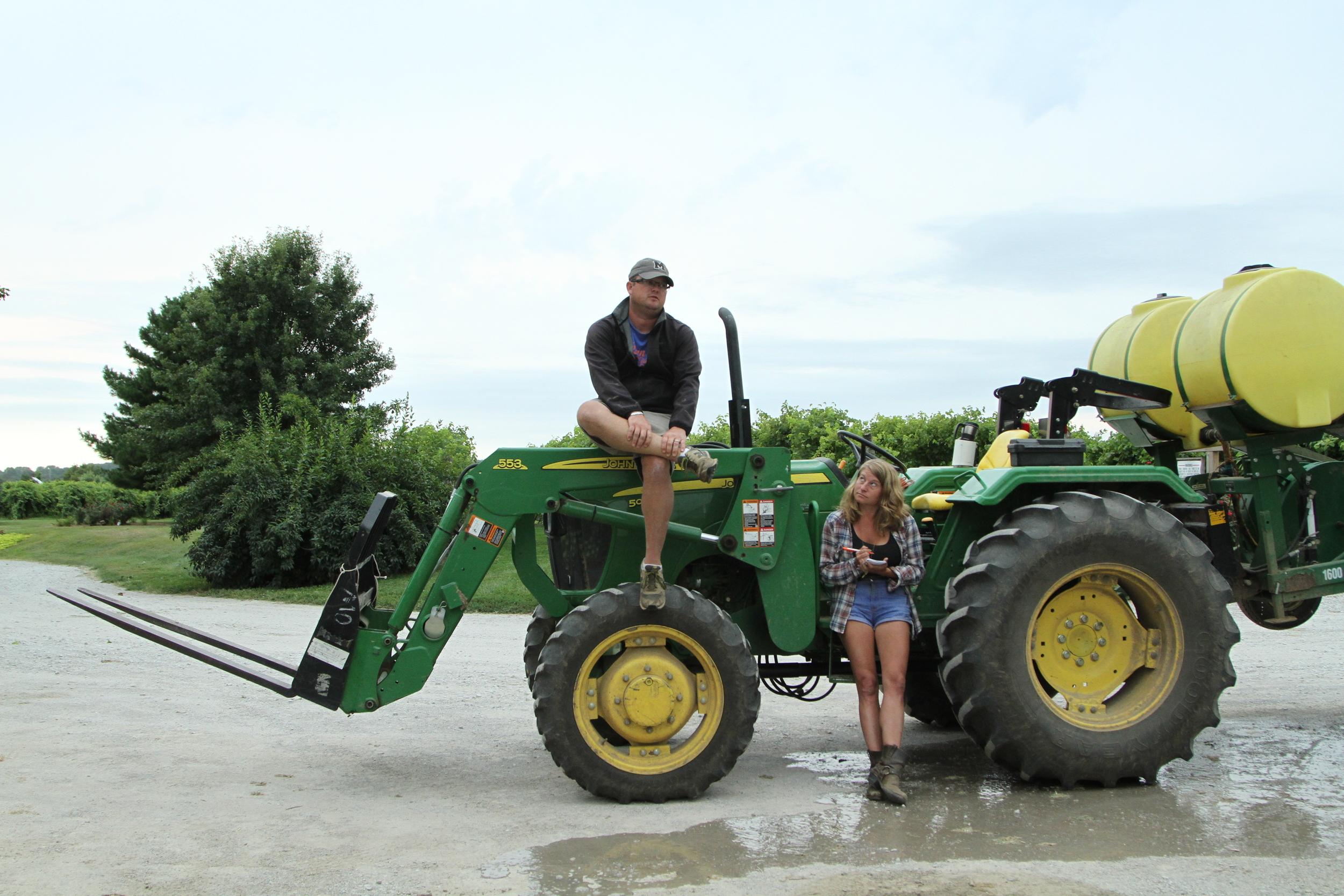 Me and my ol buddy Bret talking the changing seasons of farming.