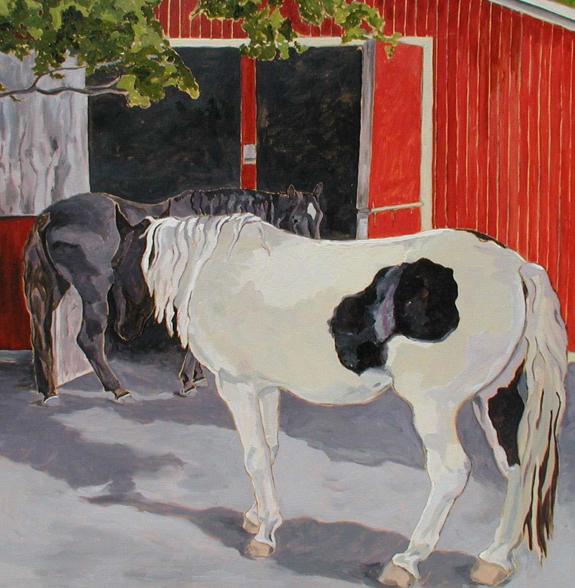 Paint Mare, Black Horse