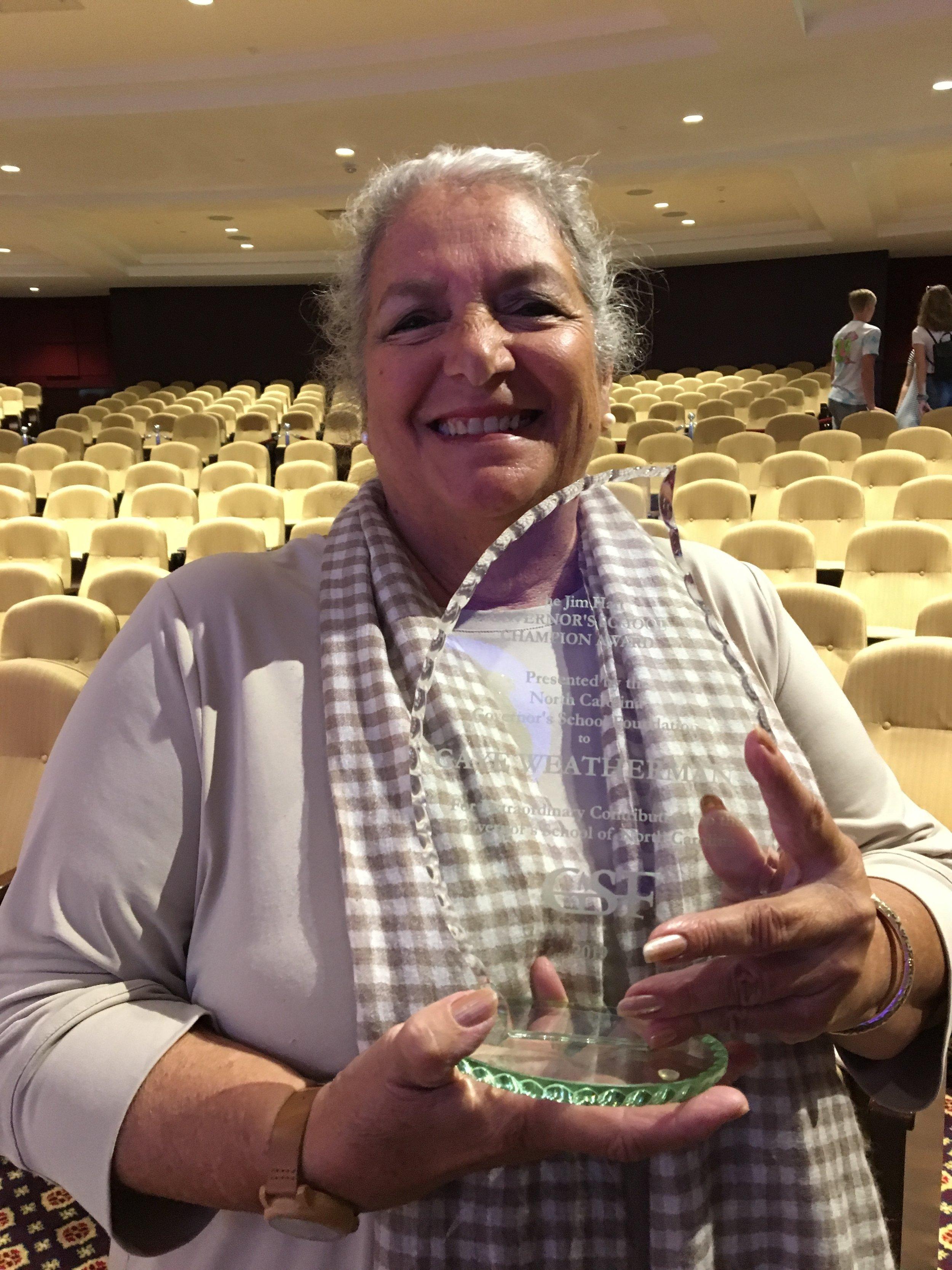 Gaye Weatherman_2019 Jim Hart Award.JPG