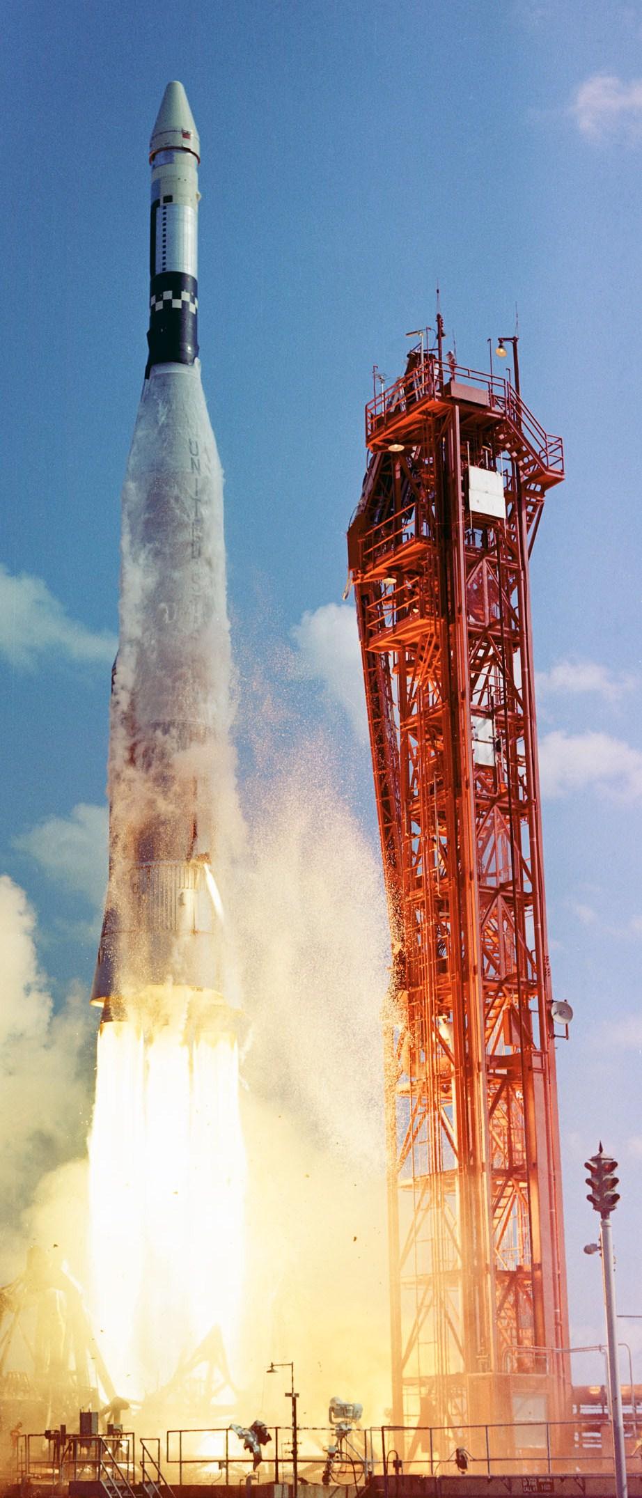 Atlas-Agena launch, October 25, 1965