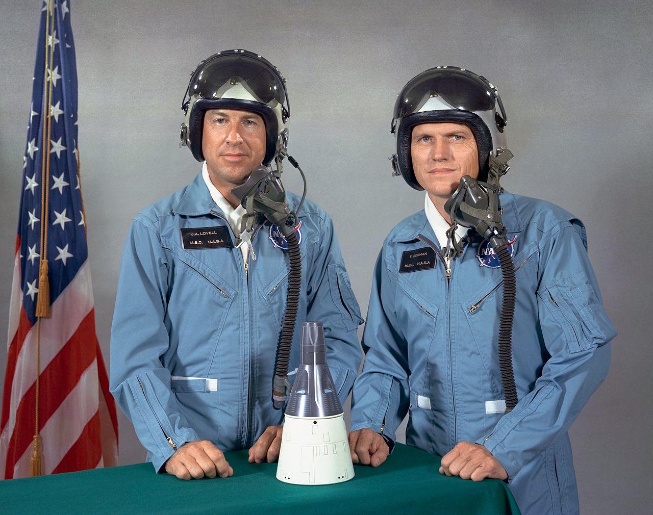Jim Lovell (L) and Frank Borman (R)
