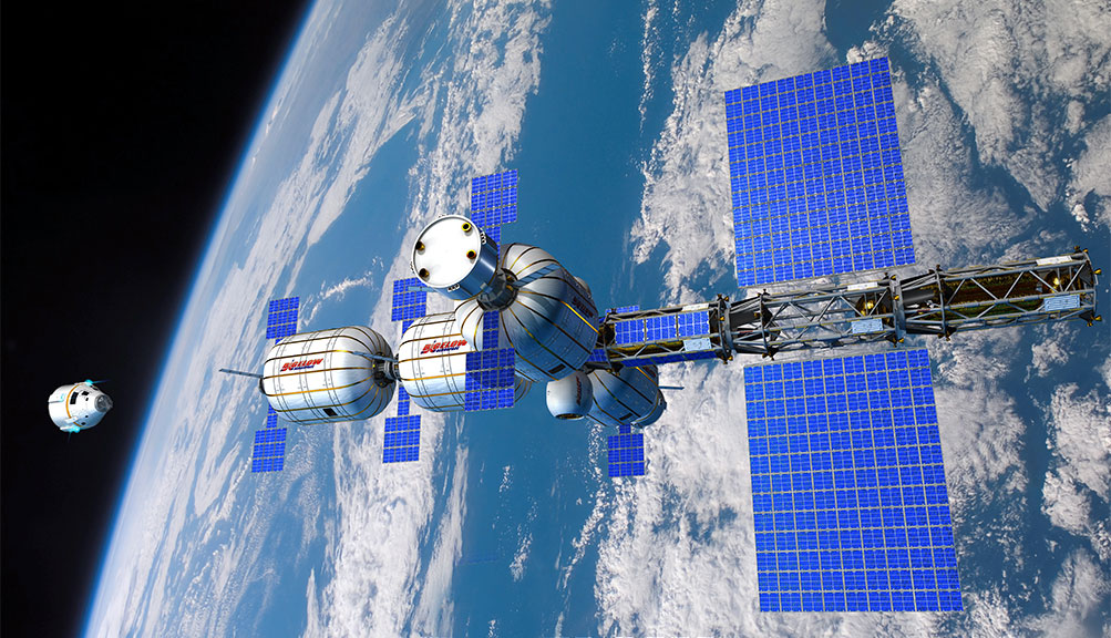 B330 modular station concept. Image curtesy of Bigelow Aerospace