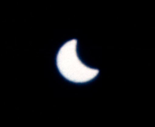 Solar eclipse as seen by the crew of Gemini XII. Photo credit: NASA
