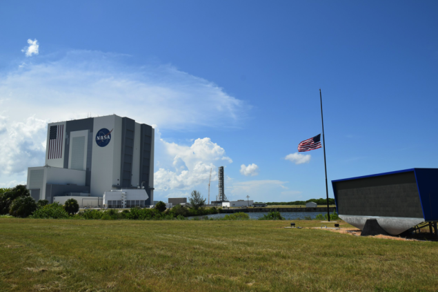 The NASA Press Site and Vehicle Assembly Building at Kennedy Space Center. Photo credit: Thaddeus Cesari)