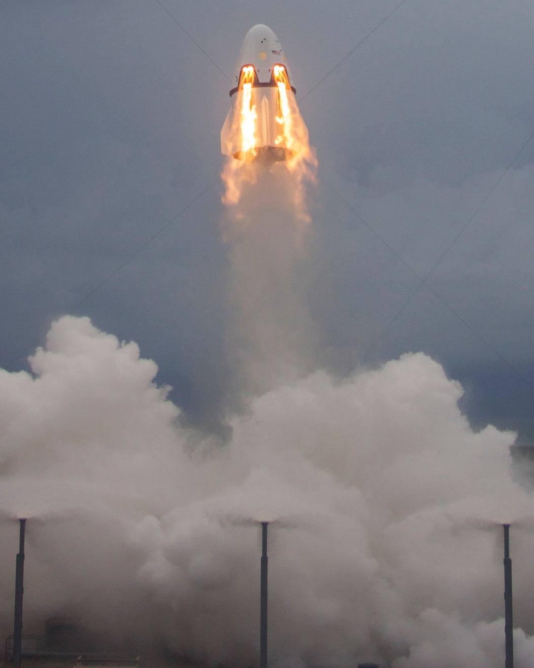 Crew Dragon pad abort test, 2015. Image credit: SpaceX