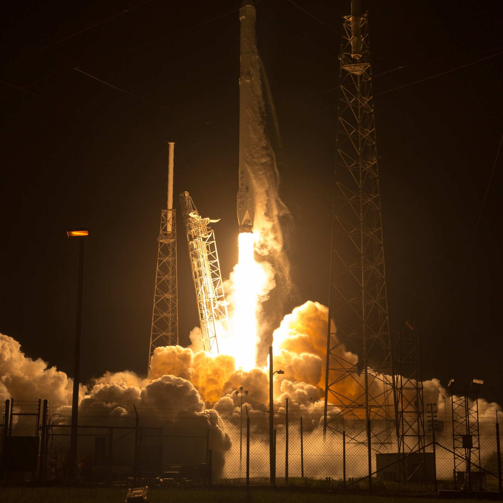 Friday, May 3 - 3:12am EDT - Space Launch Complex 40A SpaceX Falcon 9 rocket will launch the company's CRS-17 mission to the International Space Station.The rocket's first stage will attempt a landing on SpaceX's Of Course I Still Love You drone ship.