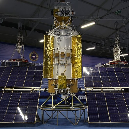 Glonass M - This spacecraft will add to a constellation of over 20 satellites supporting military and civilian land, air, and sea navigation.